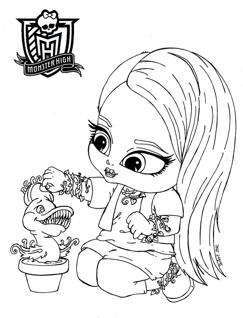 Monster High Coloring Pages Baby - Coloring Home