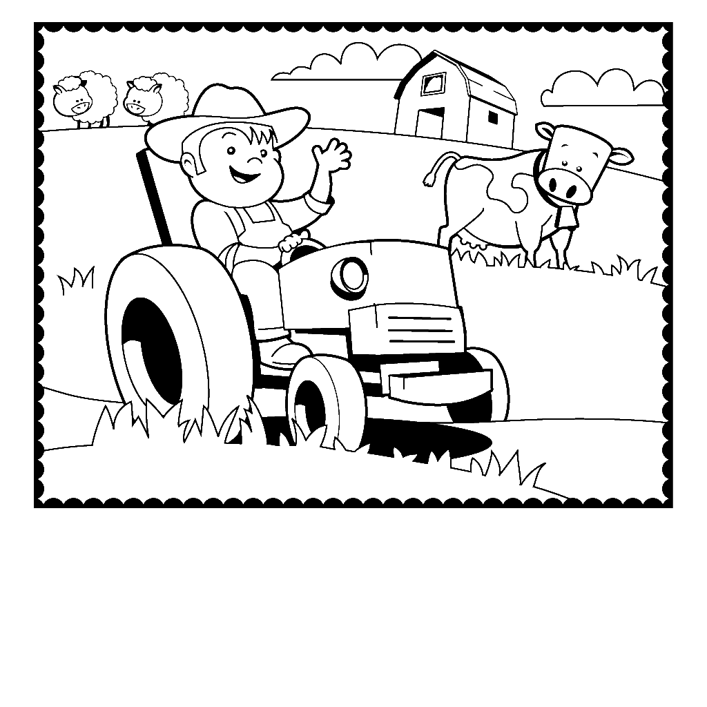 tractor coloring pages for toddlers coloring page coloring home