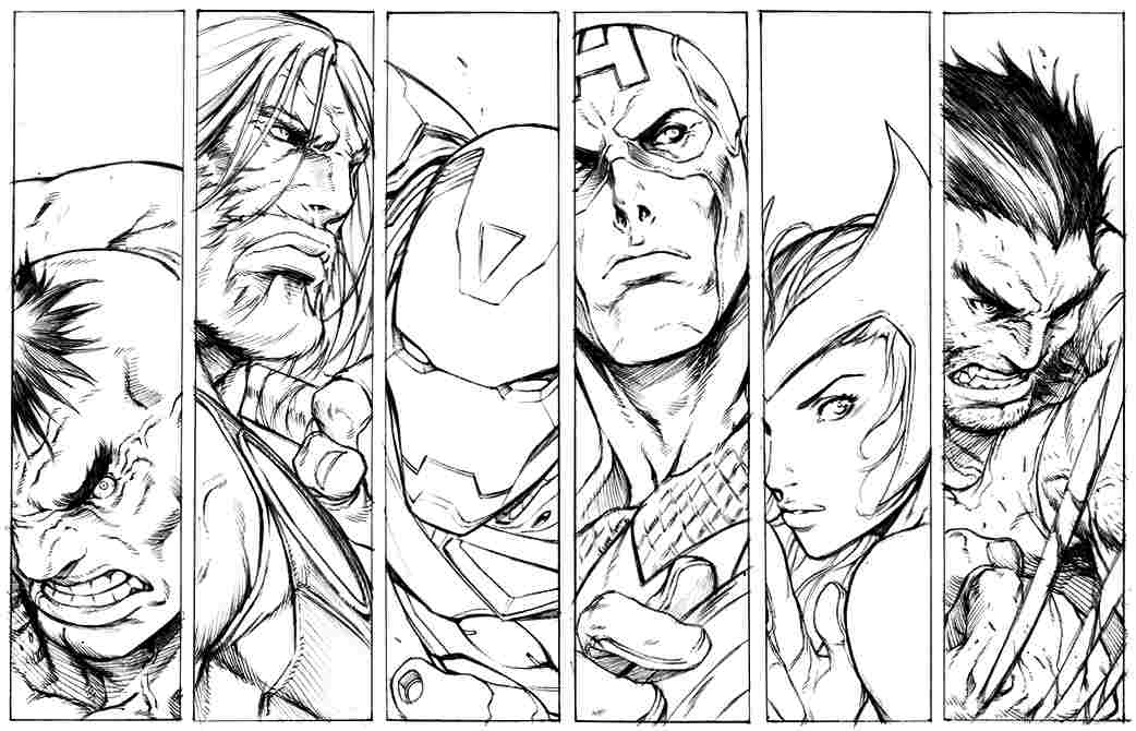 Printable Avengers Coloring Sheets - Coloring - Coloring Home