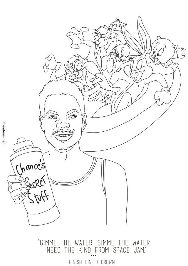free space jam coloring pages coloring home Chance the Rapper Coloring Book Album List  Chance The Rapper Coloring Book Album Download