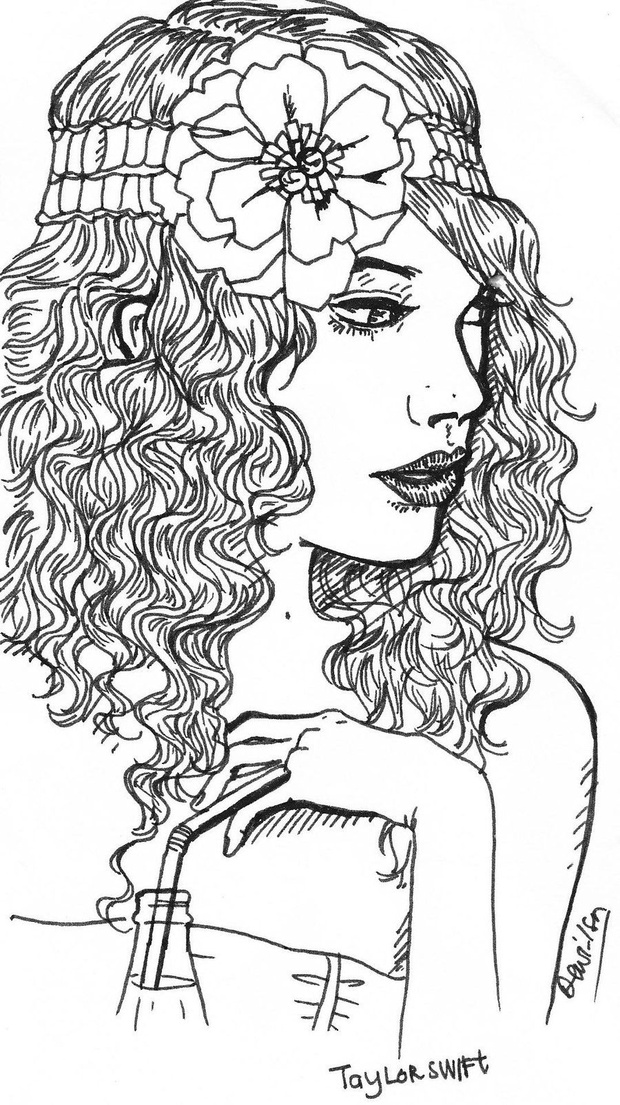 It is a graphic of Trust Taylor Swift Coloring Page