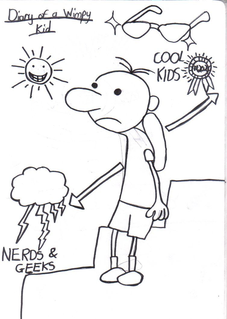 Diary Of A Wimpy Kid Movie Coloring Pages Printable