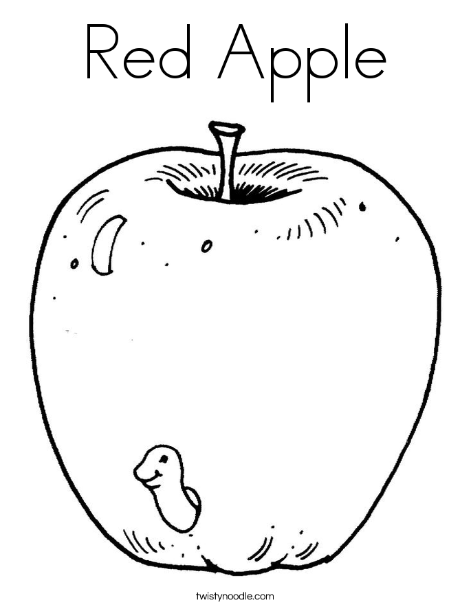 Color Red Worksheets For Kindergarten