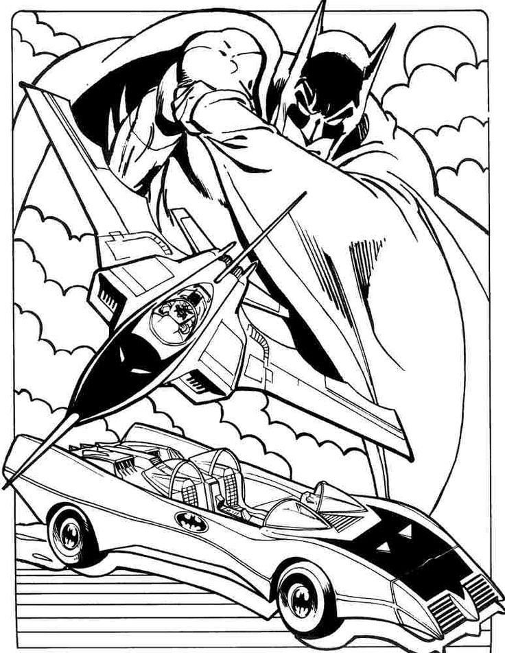 Batmobile Coloring Pages Superhero Batman Batmobile Coloring