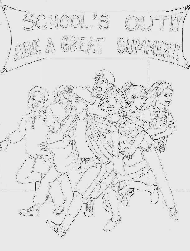 schools out coloring pages imagination - photo#7
