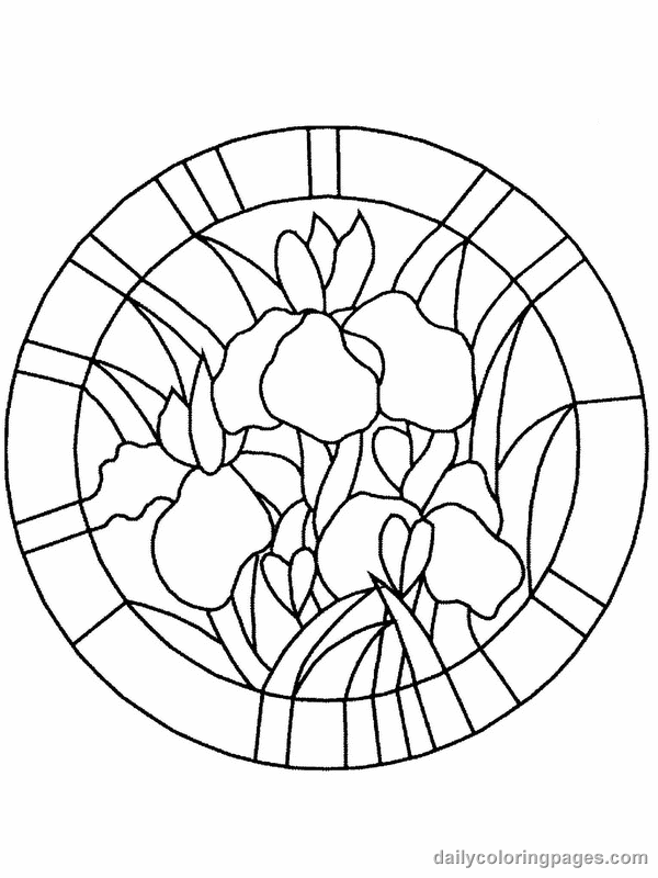 online stained glass coloring pages - photo#8