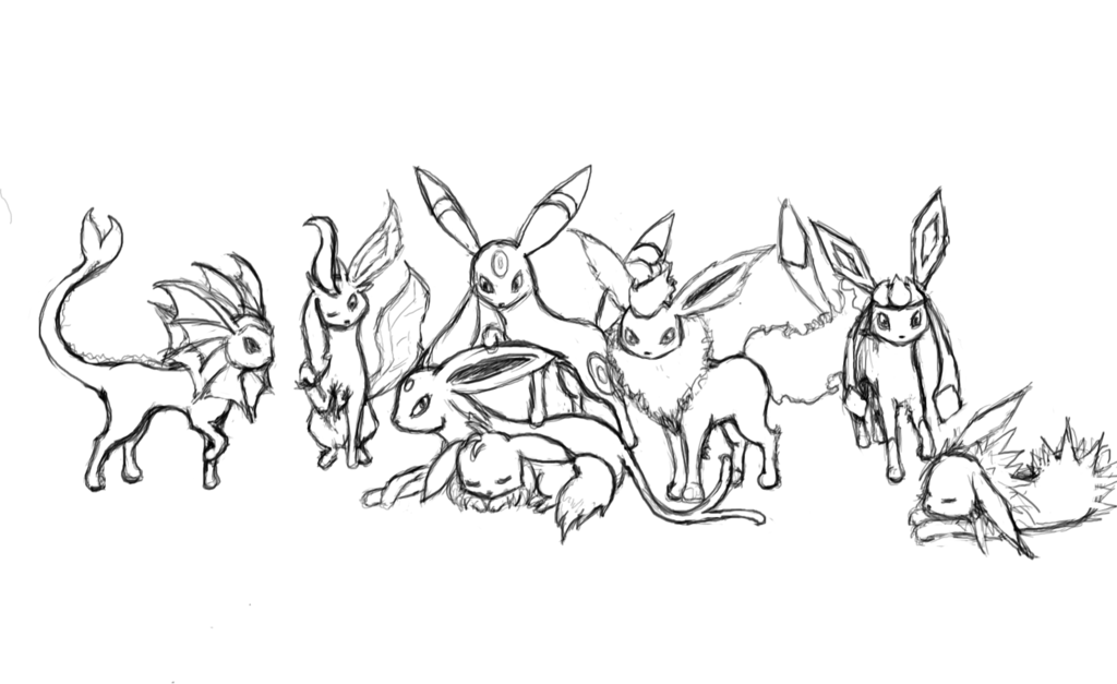 Pokemon Coloring Pages Eevee Evolutions Sylveon Coloring Pages