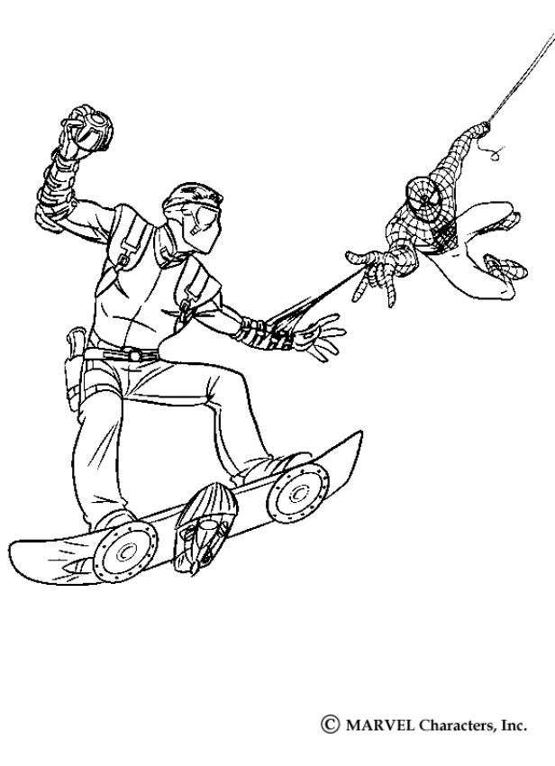 spiderman hobgoblin coloring pages | Spiderman Green Goblin Coloring Pages - Coloring Home