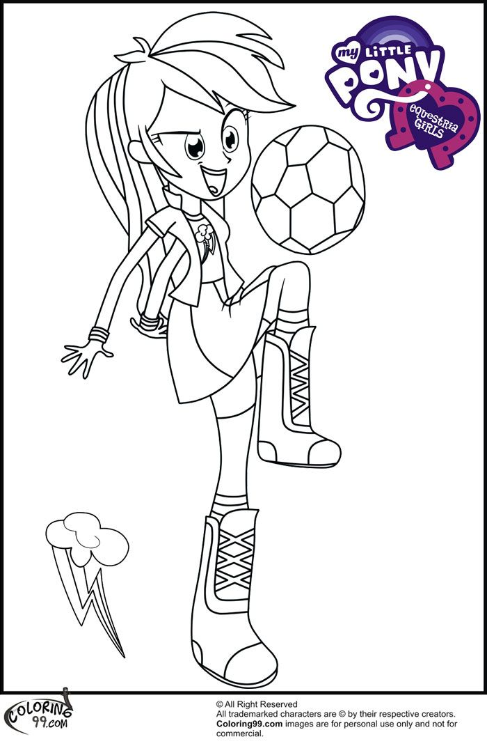 My Little Pony Coloring Pages Equestria Girls - Coloring Home
