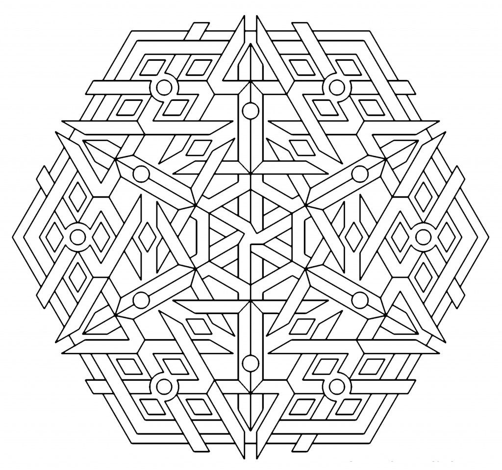 coloring pages for adults geometric - photo#6