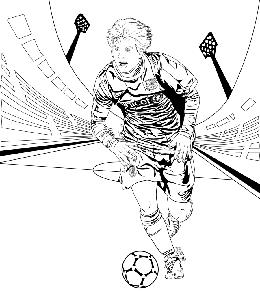 Coloring Pages Of Lionel Messi - Kids Coloring Pages