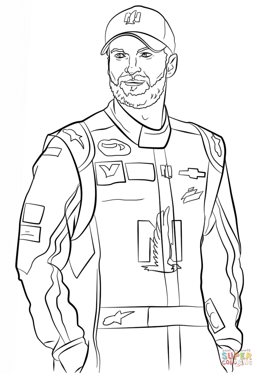 dale earnhardt jr coloring page free printable coloring pages - Nascar Coloring Pages