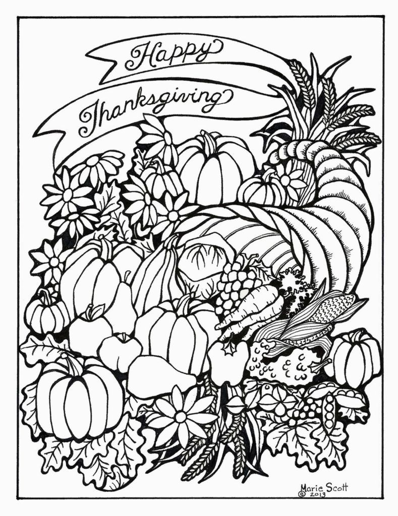 thanksgiving printable coloring pages adults - photo#2