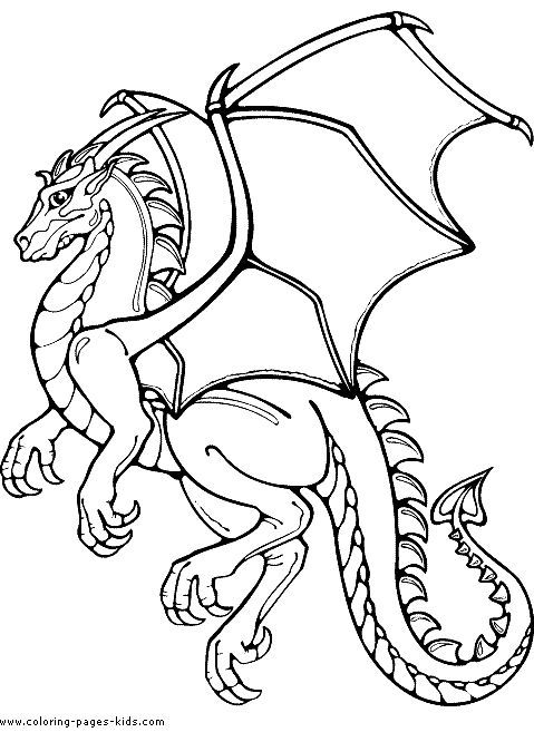Dragon Coloring Pages Pdf : Medieval dragons coloring pages and sheets can