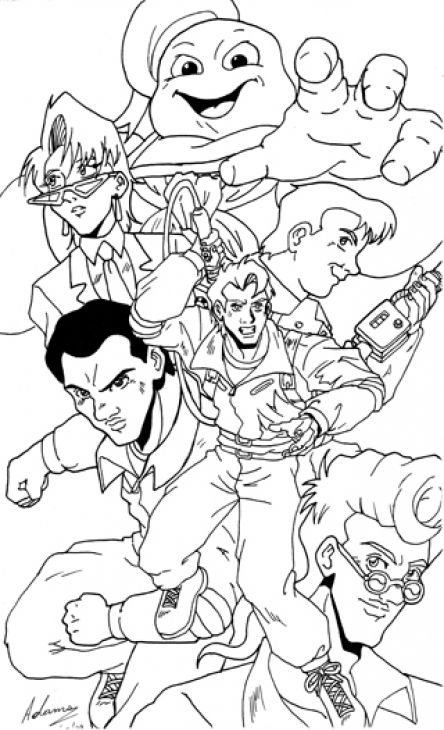 Ghostbusters Coloring Page Coloring Home