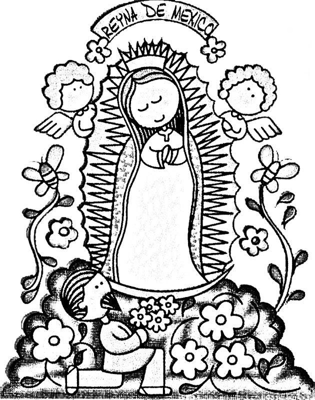 Virgen De Guadalupe Coloring Pages Coloring Home Our Of Guadalupe Coloring Page