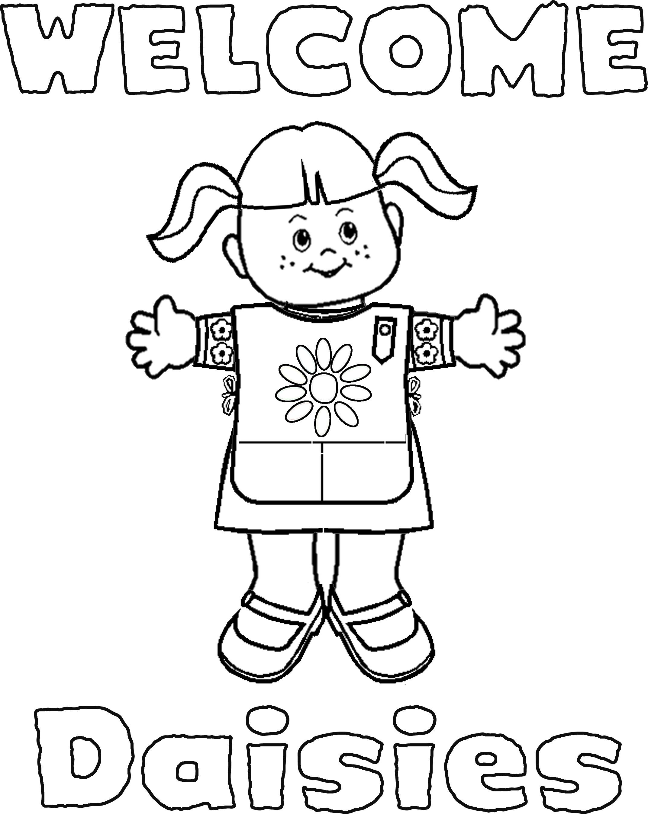 It's just a photo of Epic Daisy Scouts Coloring Pages