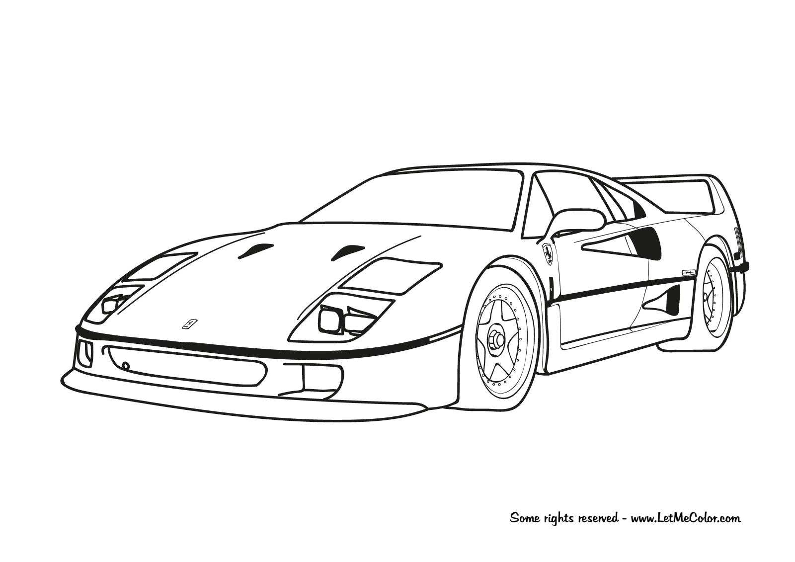 Ferrari Coloring Pages Coloring Home