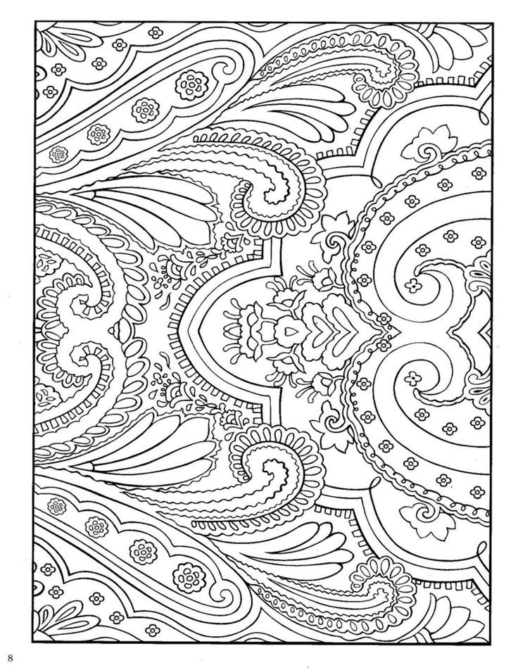Paisley Print Coloring Pages