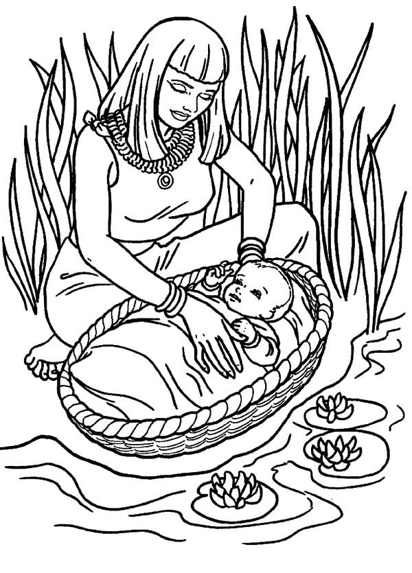 moses coloring pages free - photo#37