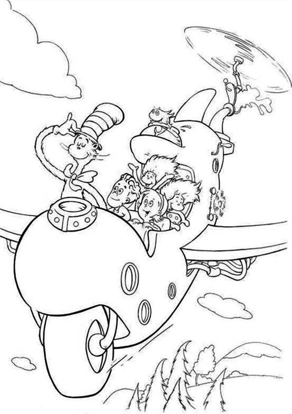 Free Coloring Pages Fish Cat In The Hat - Coloring Home