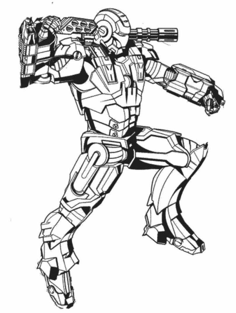 print iron man 3 armor coloring pages or download iron man 3 armor - Iron Man Patriot Coloring Pages