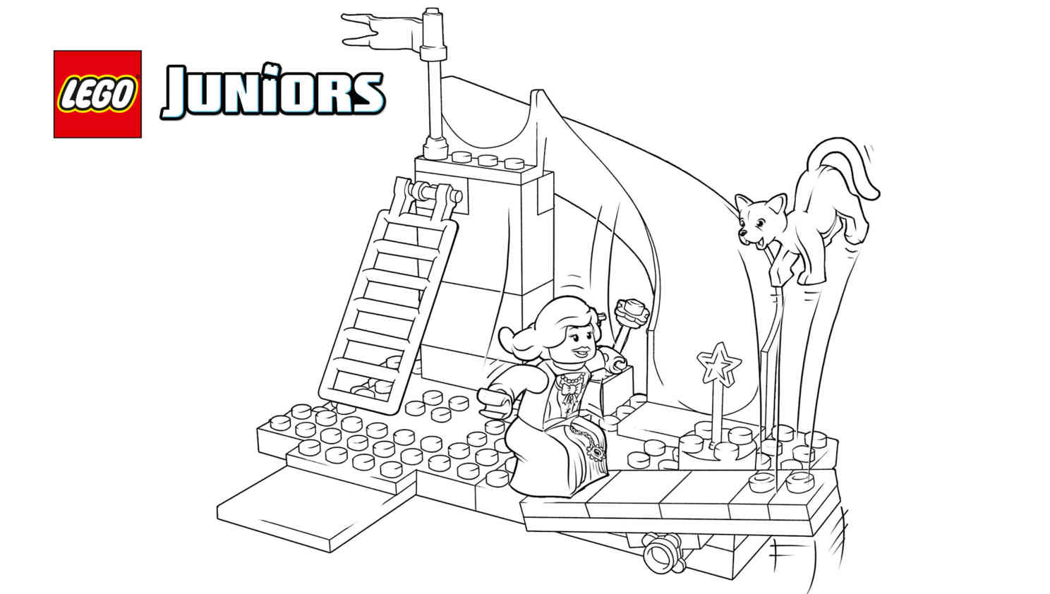 Free Printable Lego Castle Coloring