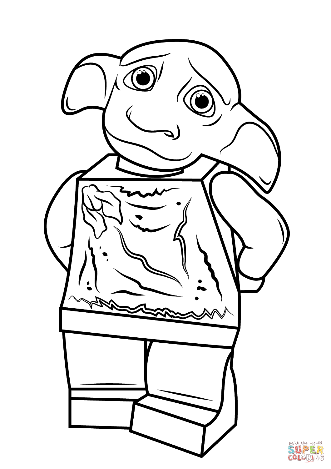 harry potter coloring pages pdf | Lego Harry Potter Dobby Coloring Page | Free Printable ...
