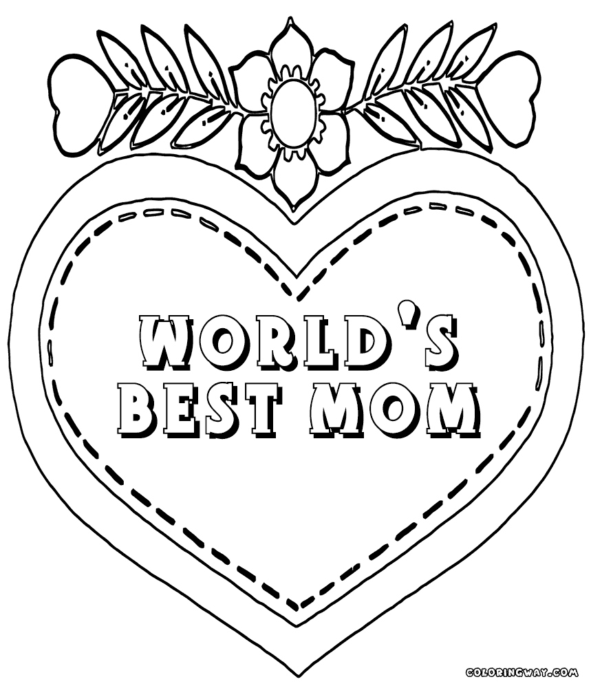 Best Mom Ever Coloring Pages at GetDrawings | Free download
