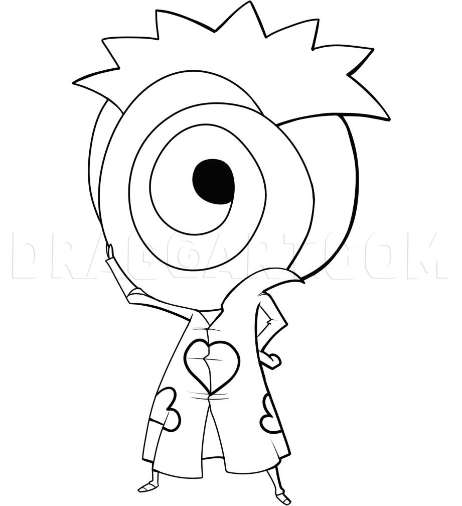 How to Draw Chibi Tobi, Coloring Page, Trace Drawing