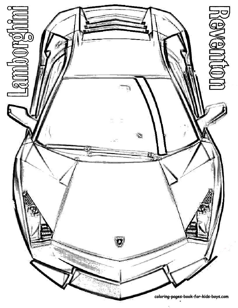 Coloring Pages Lambhini Cars