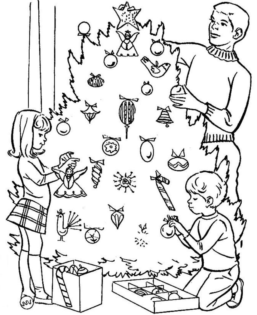 Christmas Tree Coloring Pages Online Coloring Home Decorated Tree Coloring Page