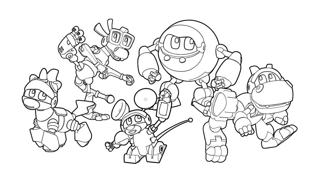 Animal Mechanicals Coloring Page Coloring Home