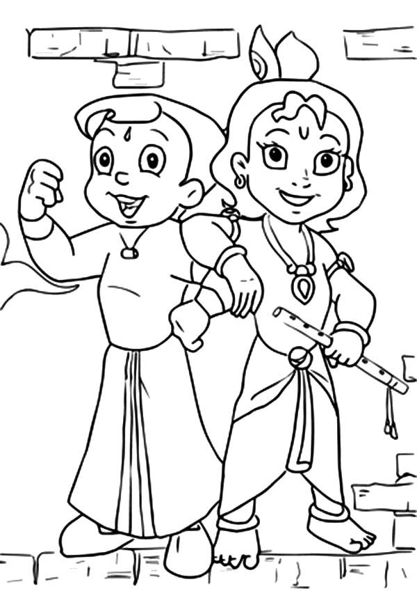 Chota Bheem Colouring Pages To Print - High Quality Coloring Pages