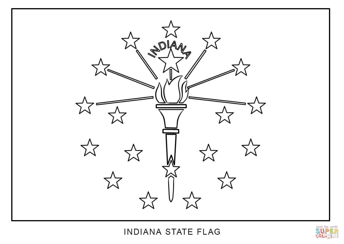 Indiana Map Coloring Page Coloring Pages