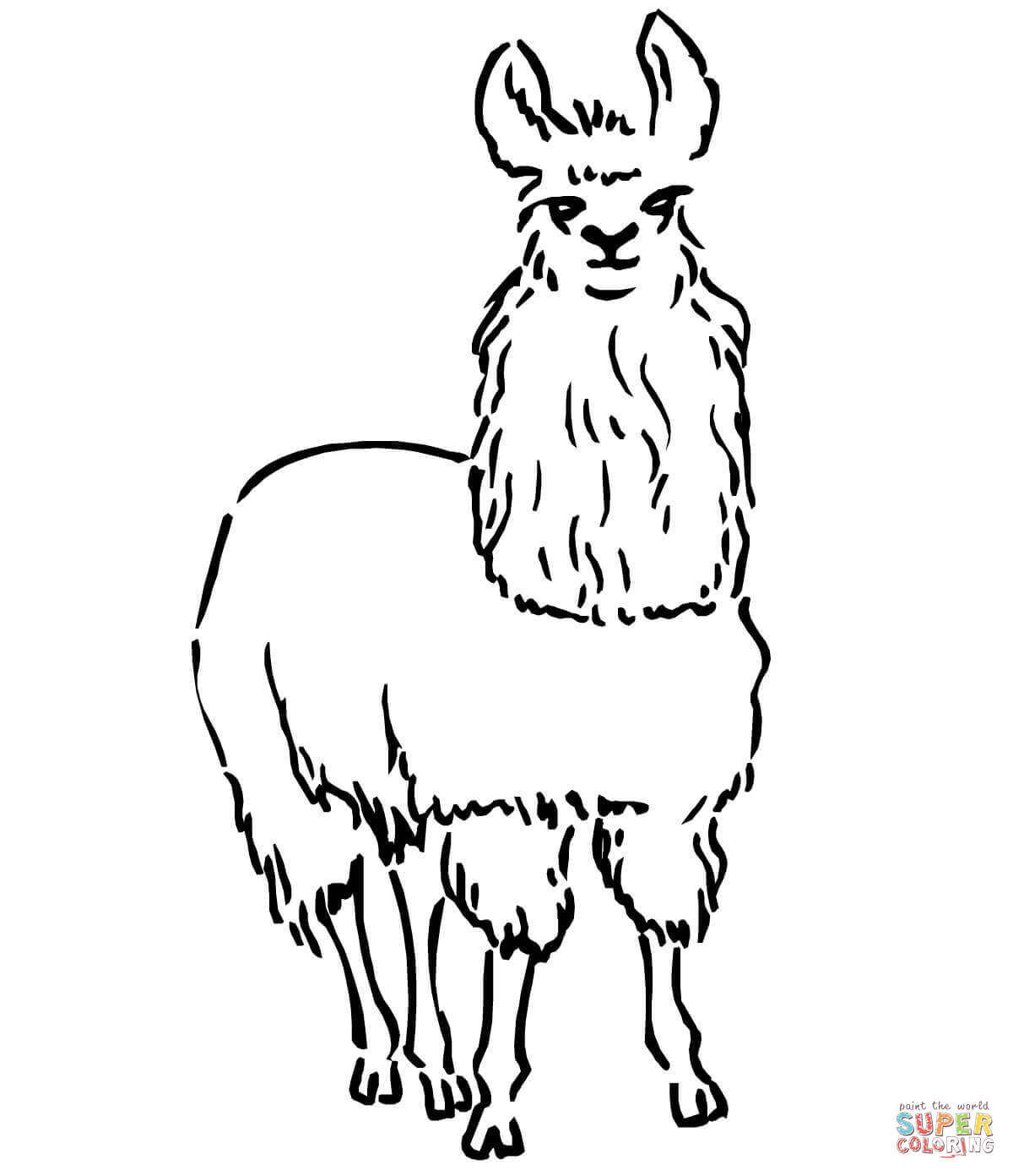 Llama coloring pages | Free Coloring Pages