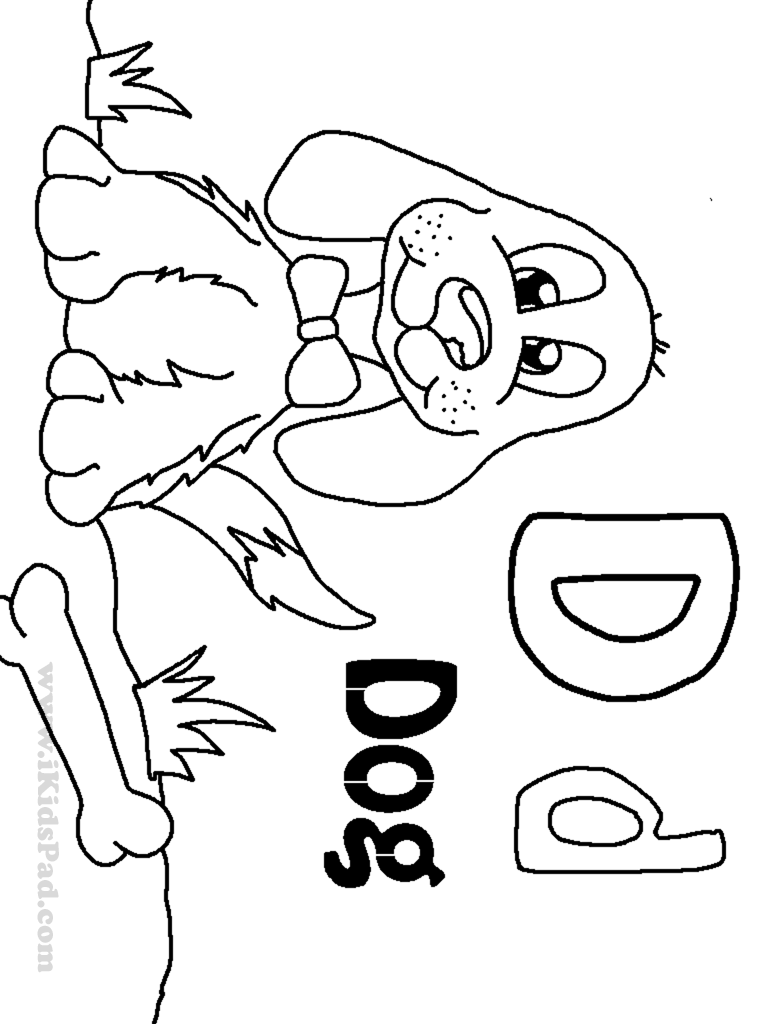 letter d coloring pages preschool black | Printable Letter D Coloring Pages - Coloring Home