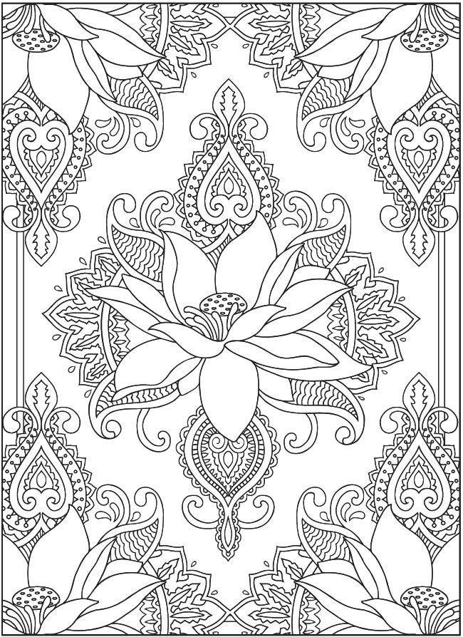 Mehndi Coloring Page , Coloring Home