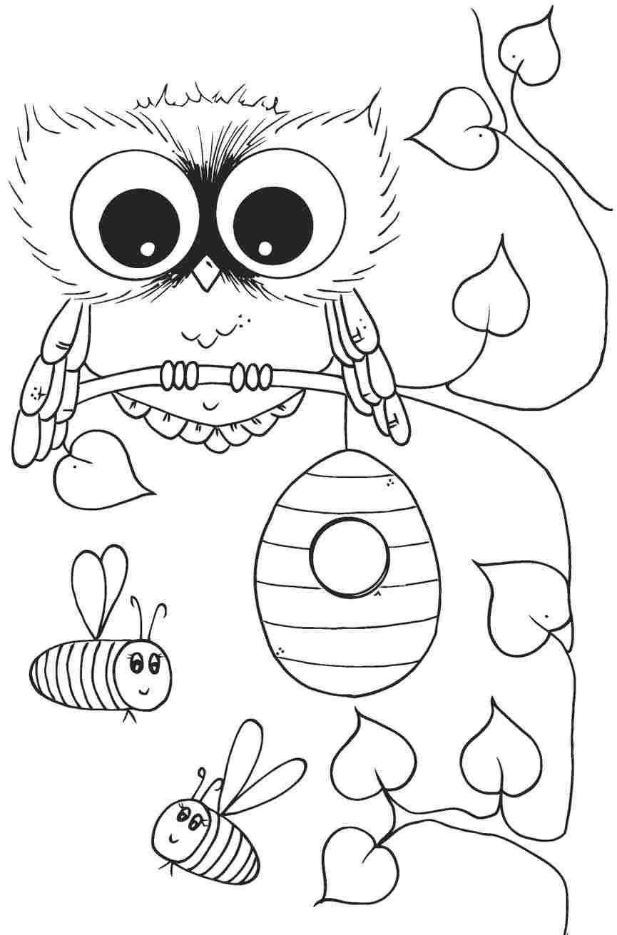 girl owls coloring pages