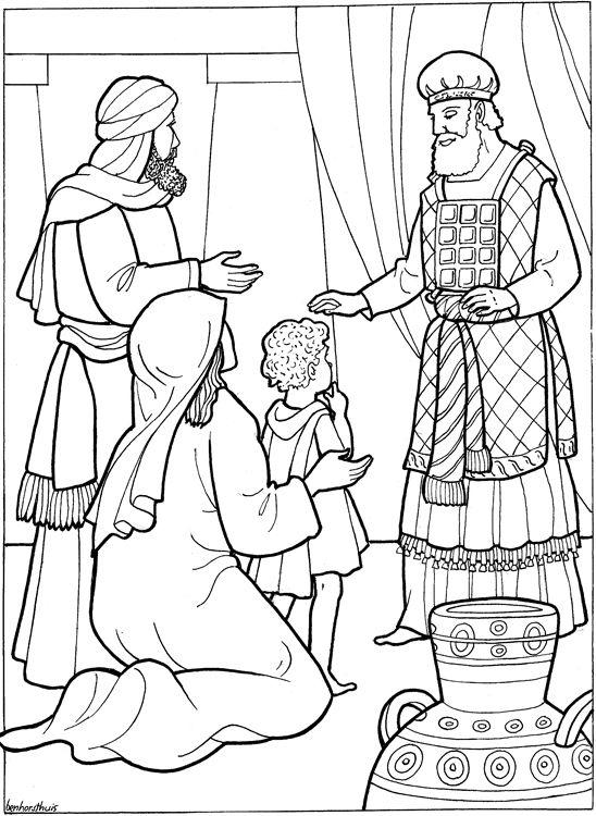 Hannah Presents Samuel To God Keeping Her Promise Dedicate Him Gods Service