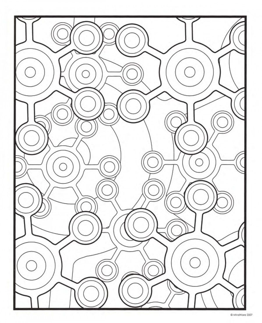 adult geometric coloring pages coloring home