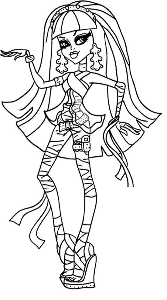 Cleo de Nile Monster High Coloring Page | Monster High Coloring ...