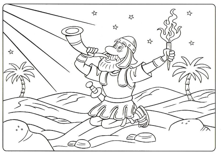 gideon printable coloring pages - photo#12