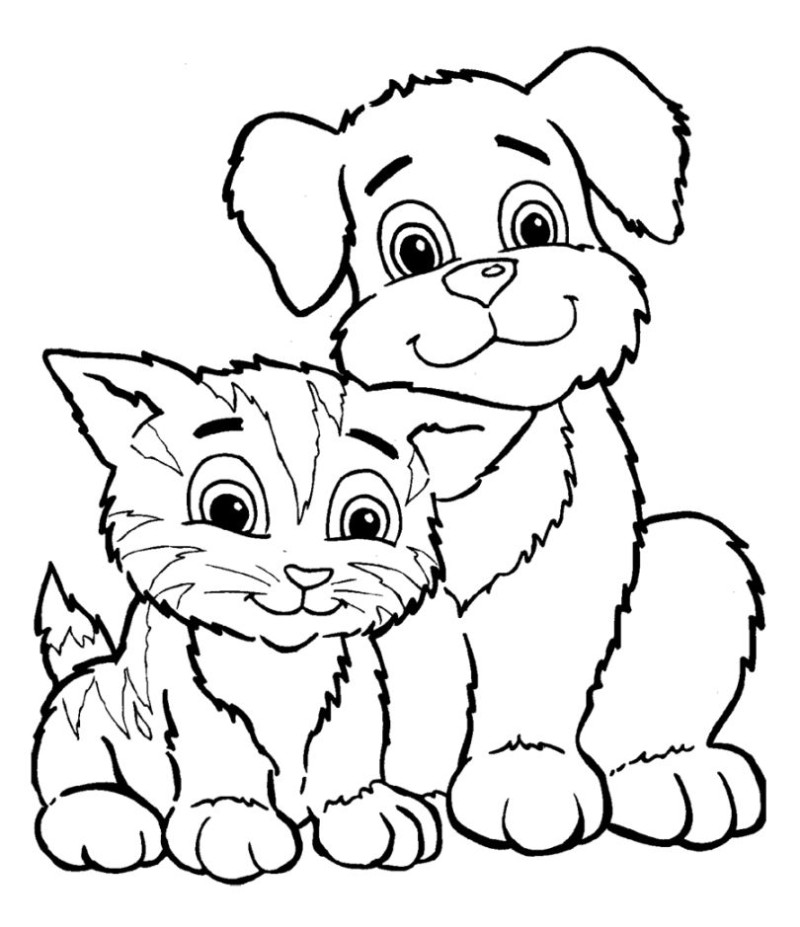 puppy coloring pages for kids coloring home