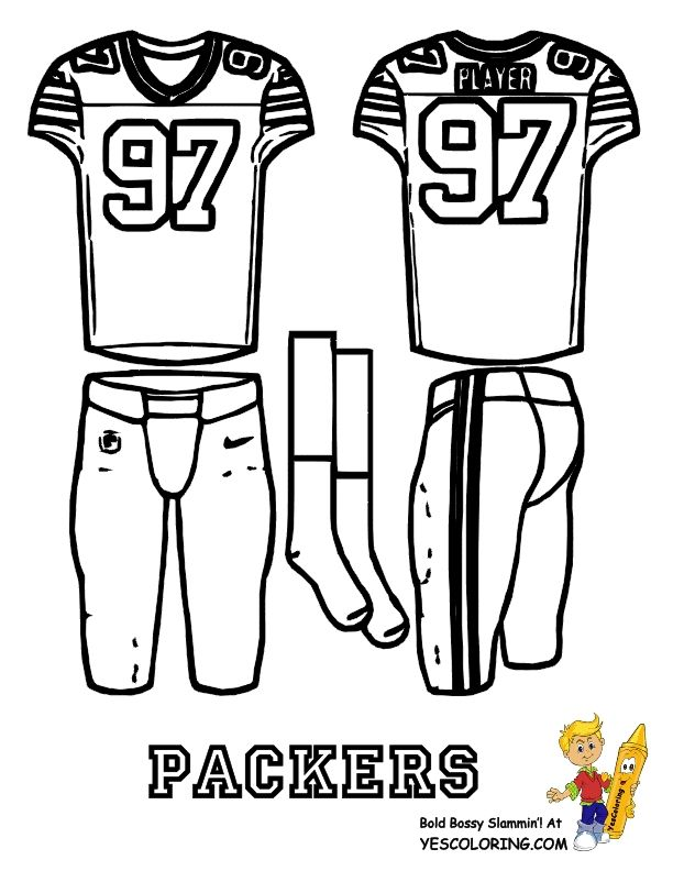 Nfl Coloring Pages Pdf : Teachers green bay packers logo coloring page free