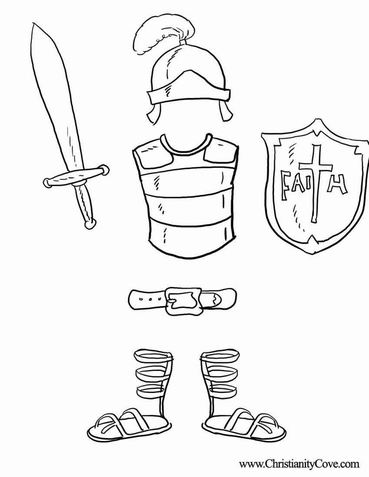 Armor of god coloring pages coloring home for God is my shield coloring page