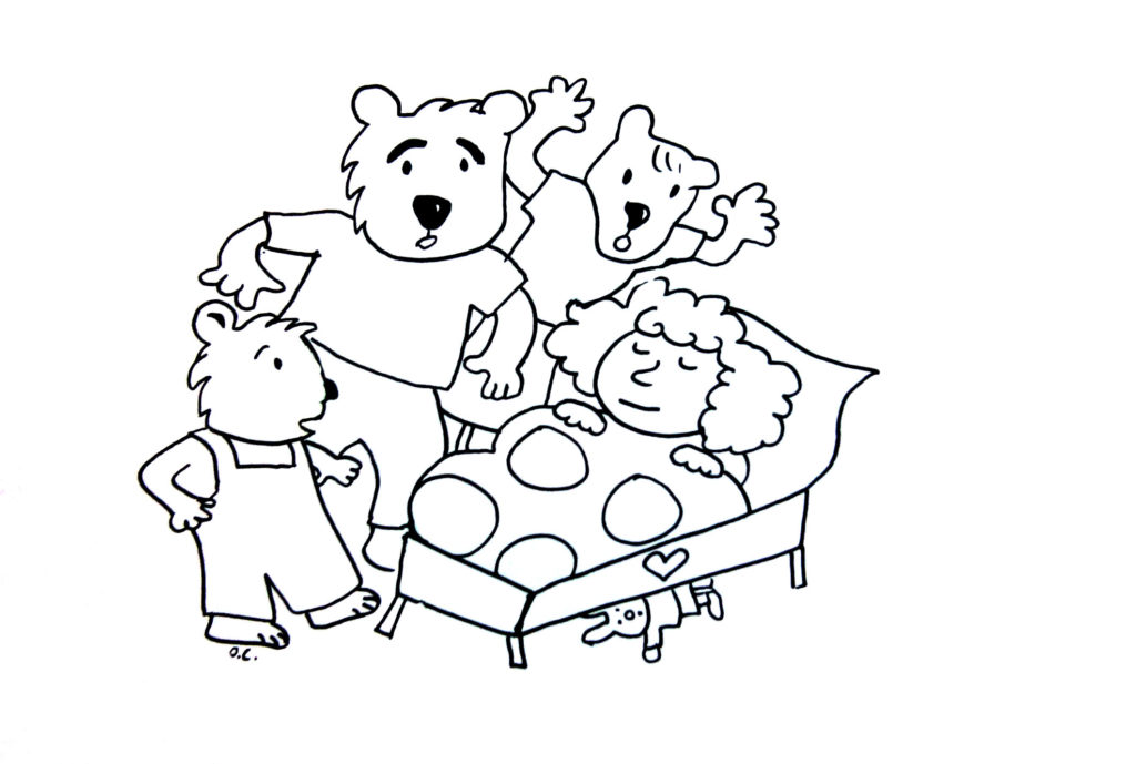 free goldilocks coloring pages - photo#4
