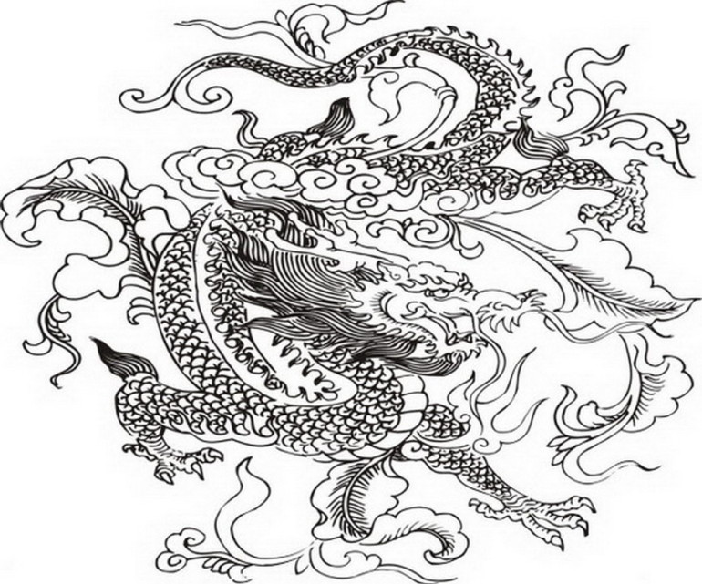 Dragon Coloring Pages The Legendary Animal