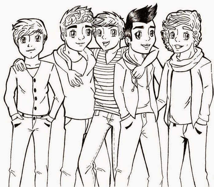 print one direction coloring pages - photo#23