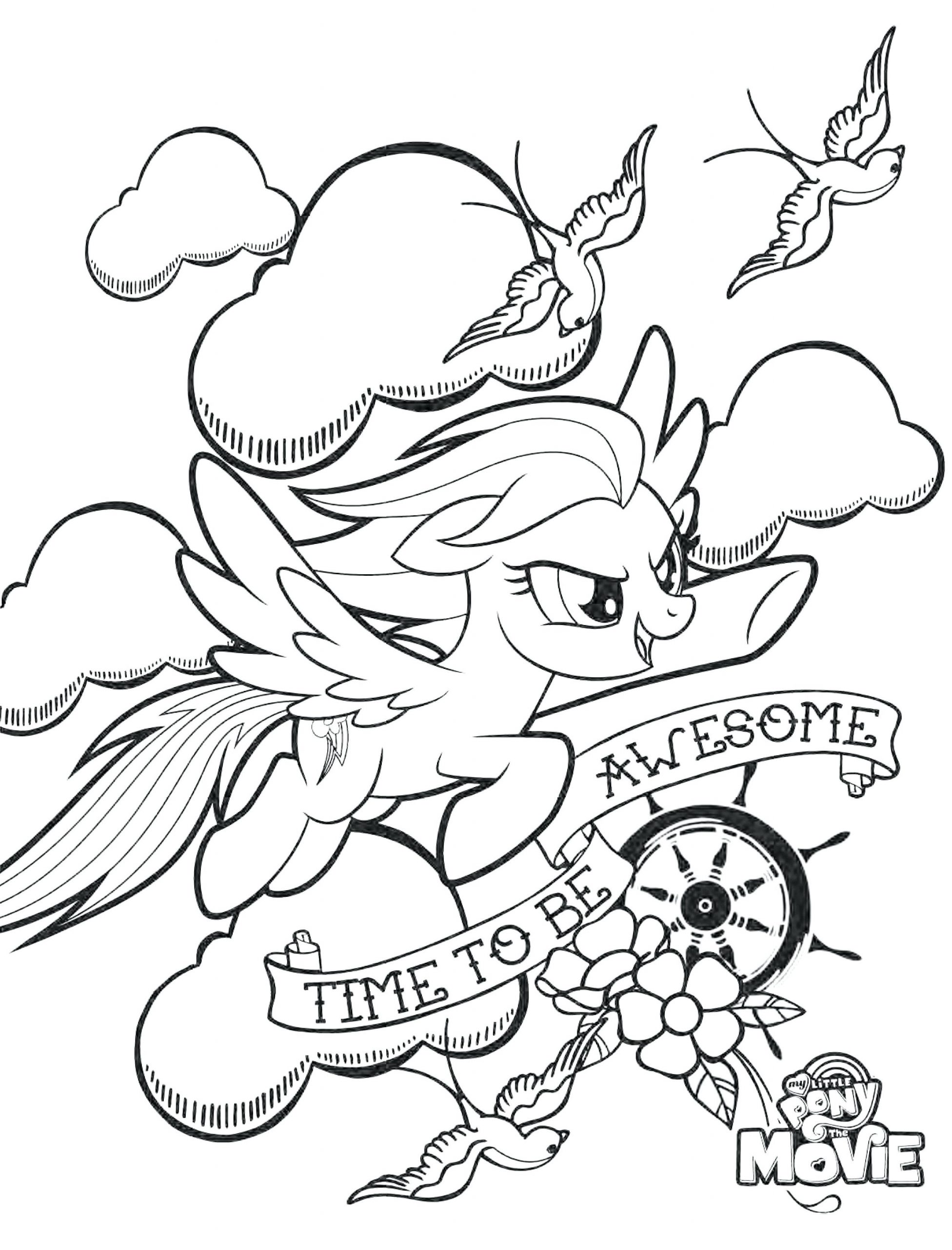Bathroom : Incredible My Little Ponyoring Pages Rainbow Dash ...